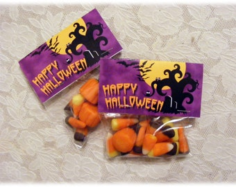 Spooky Halloween Candy  Treat Bag Toppers - DIY Printable Downloadable file - Instant Download