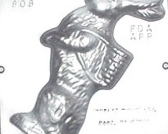 """8 1/2"""" Easter Bunny Facing Left Chocolate Candy Mold Easter 808"""