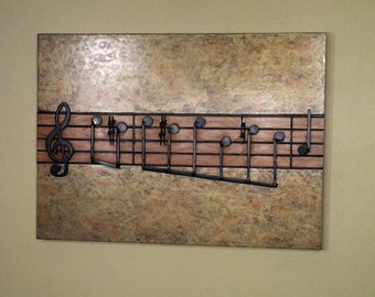 Fur Elise in Wood, Recycled Wood Wall Art -Musical Art, Home and Living, Home Décor-MADE TO ORDER