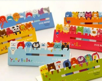 Yuru Cute Animals Stickers Post-it Filofax 6 styles