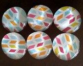 Burst of Color Marble Magnets - Set of 6