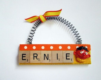 Ernie Sesame Street Scrabble Tile Ornament