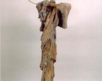 "Tekiah - Unique, One of a Kind Figurative Sculpture Cast in Bronze.  54"" x 24"" x 10"""