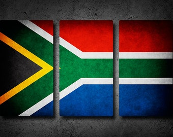 South Africa Flag Triptych