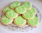 Custom Monogram Cookies...