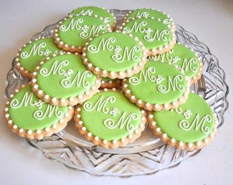 Custom Monogram Cookies