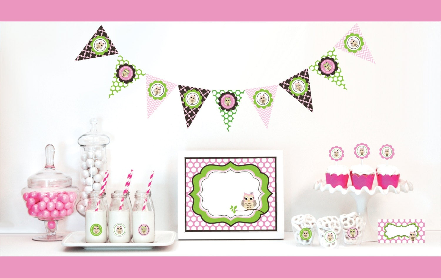 Baby shower decorations deals on 1001 blocks for Baby owl decoration