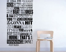Rocky Balboa Mural Inspirational Wall Decal Sticker Vinyl 150x60