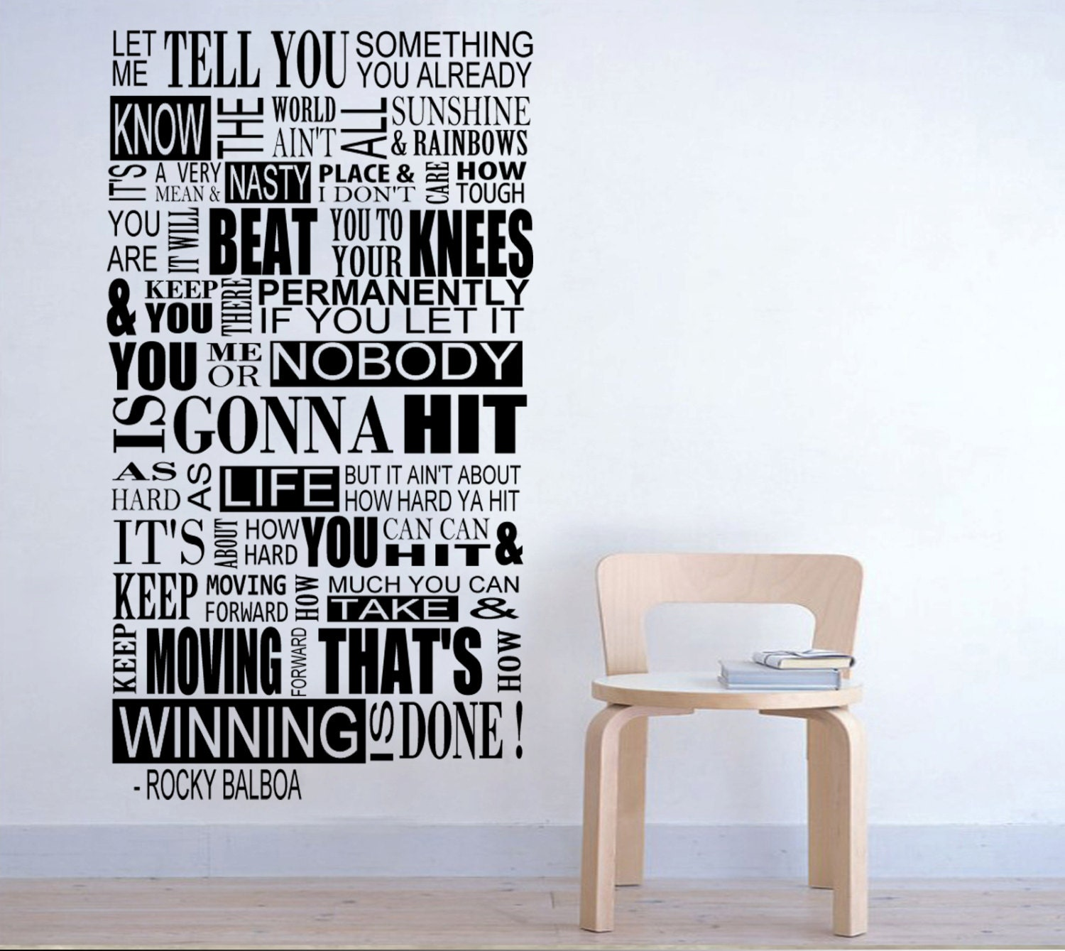 Rocky balboa mural inspirational wall decal sticker by for Mural inspiration