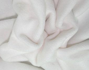 "White - Polar Fleece Fabric - Metre/Half - Anti Pil - 59"" (150cm) wide"