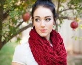 Chunky Cowl Hand Knit Scarf-Tampa Spice