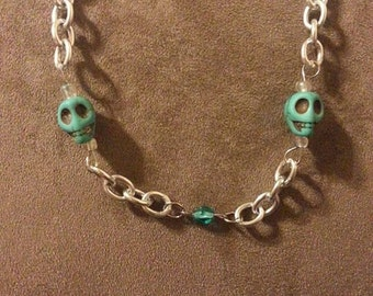 Turquoise Skulls Necklace