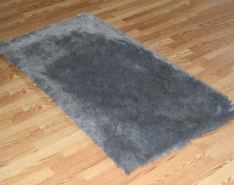 faux fur rug etsy. Black Bedroom Furniture Sets. Home Design Ideas