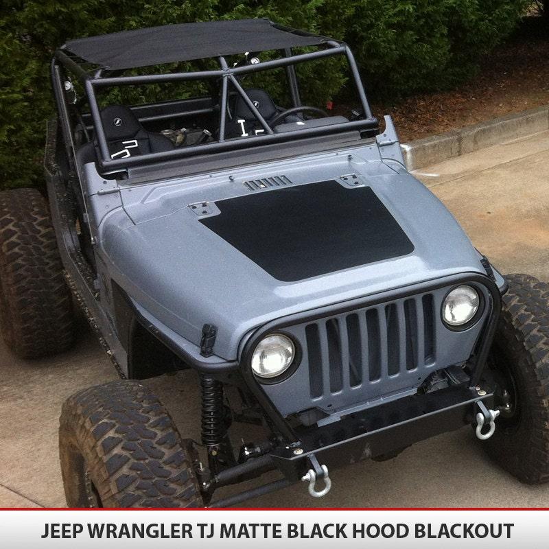 Jeep Wrangler Tj 97 06 Blackout Hood Decal Vinyl