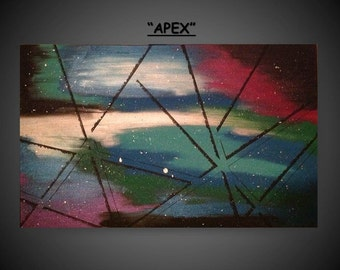"30 x 48 Large ORIGINAL abstract painting ""APEX"""