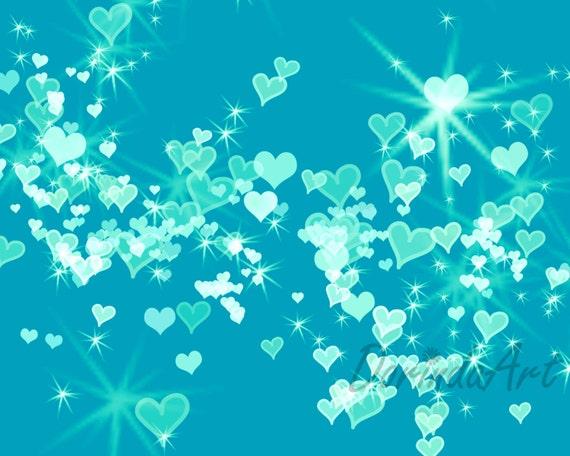 turquoise stars backgrounds - photo #10