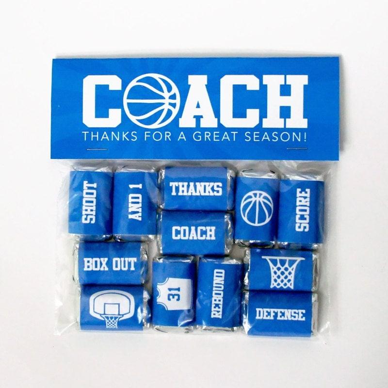 Basketball Coach Gift Printable Basketball Mini Candy Bar