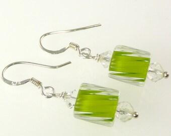 Artisan - Sterling Silver Furnace Glass Earrings E011