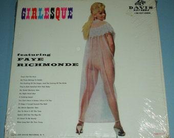 GIRLESQUE Naughty, Racy Novelty LP Record starring Faye Richmonde SEALED!!