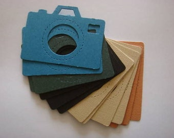 15 Vintage style Camera Die cuts for cards/toppers cardmaking scrapbooking paper craft project
