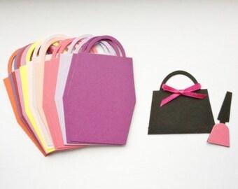 20 Gorgeous Ladies girls Handbag die cuts for cards/toppers *cardmaking*scrapbooking* crafting