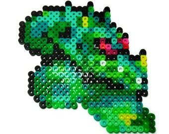 Super Metroid Kraid Perler bead sprite - retro gamer gift - super nintendo - metroid art - snes - geeky