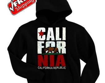 Men's California Republic Bear Hoodie All size S-3XL (BEST PRICE with Free Shipping)