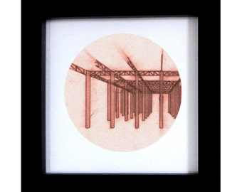 Architectural Hand Drawing Print - Urban Decay - Forest of Decay 2 - Original Artwork