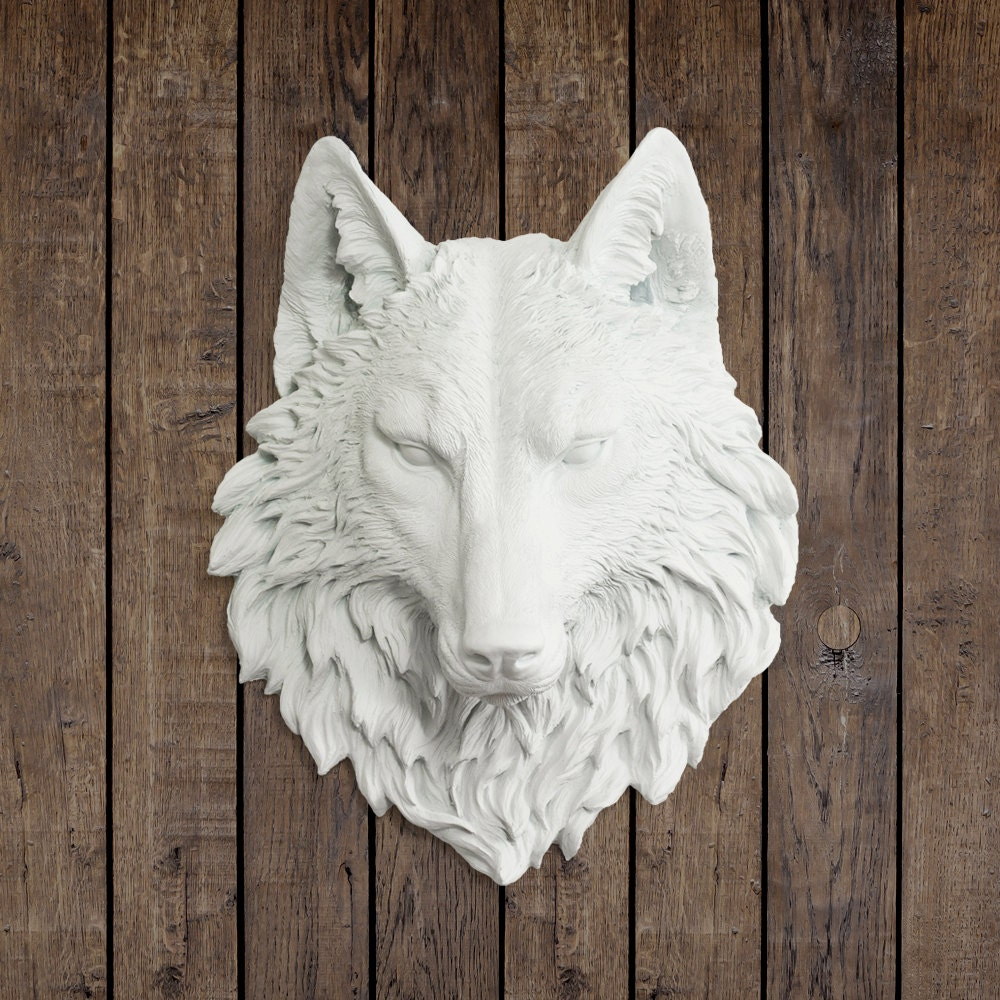 the sierra in white wolf faux taxidermy fauxidermy fake. Black Bedroom Furniture Sets. Home Design Ideas