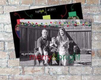 String Lights Holiday Card {Digital Item}