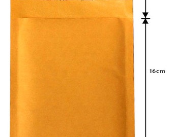 50PCS 5.5inchx(6+1.5)inch Kraft, self seal padded envelope, cushioned mailers, bubble mailers