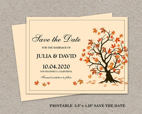 Peaceful image in printable save the dates