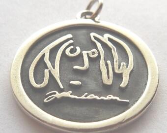 John Lennon Imagine Pendant Sterling Silver 925
