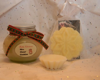 MRS CLAUS COOKIES Soy Candles! Christmas Candles, 6 oz jar, best sugar cookie candle! buttercream candle! colorless candle, ashka candles