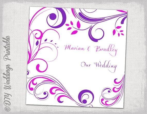 cd dvd cover vorlage lila und rosa scroll diy