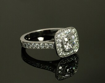 Legacy Cushion Halo Engagement Ring