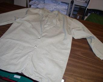Ladies Vintage but New XL Khaki Jacket by Sunbelt, 100% Cotton Khaki