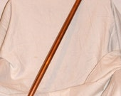 117 'Steampunk Inquisitor' unique one-of-a-kind custom made industrial Riddler / Doctor Who / Mario Copper Cane Walking Stick