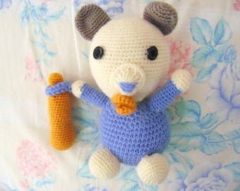 Toy baby Bear - Crochet Son Bear - All Natural Eco-friendly Wool Toy