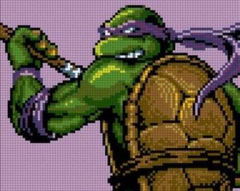 Teenage Mutant Ninja Turtle Cross Stitch