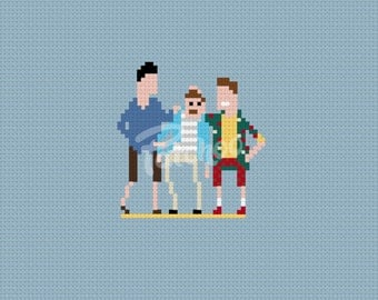 Weekend At Bernie's- Cross Stitch Pattern (PDF) - INSTANT DOWNLOAD