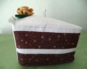 Chocolate Piece of Cake Pincushion