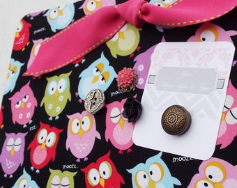 "Magnetic Board Fabric Covered Magnet Board (12"" x 8"") Adorable owls, Memo board, Teens & Tweens, Kids, Girls, Organization, Bulletin Board"