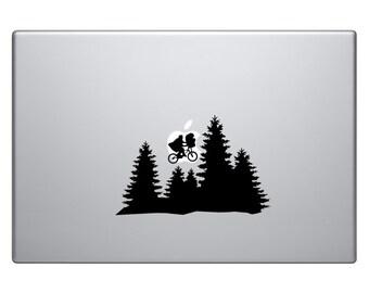 ET Vinyl Sticker Laptop Macbook Mac Air Apple E.T. Extraterrestrial Moon