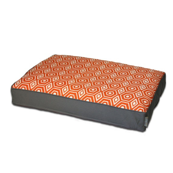 EZ Living Home Honeycomb Pillow Bed Tangerine By Ezlivinghome