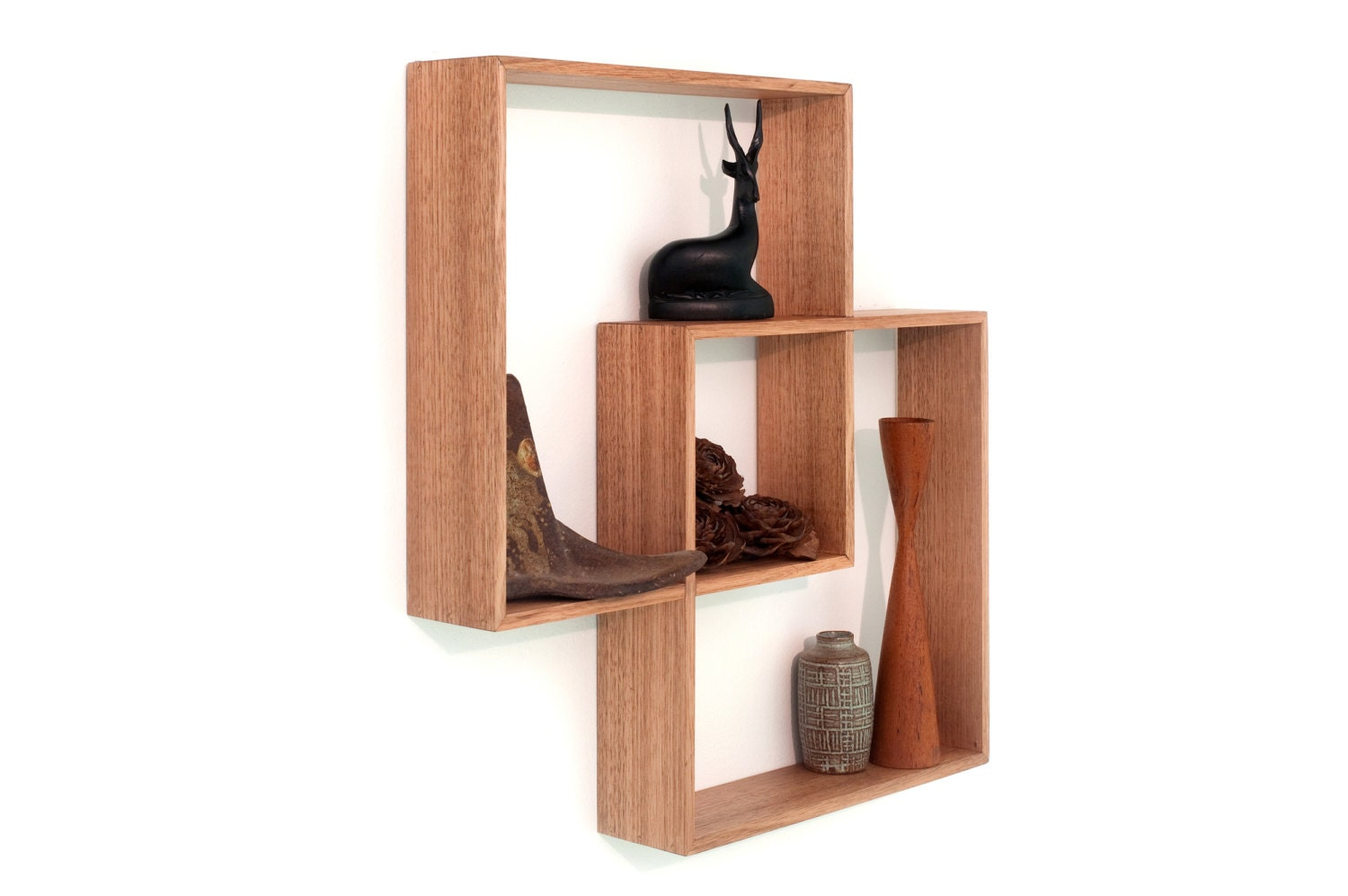 2 shadow box to display your treasures wall hanging shelf wood. Black Bedroom Furniture Sets. Home Design Ideas