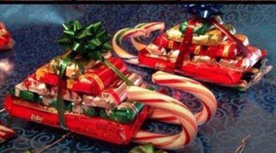 Items similar to Candy Sled. Great gift or holiday party ...