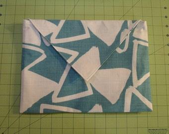 Envelope Clutch blue triangle
