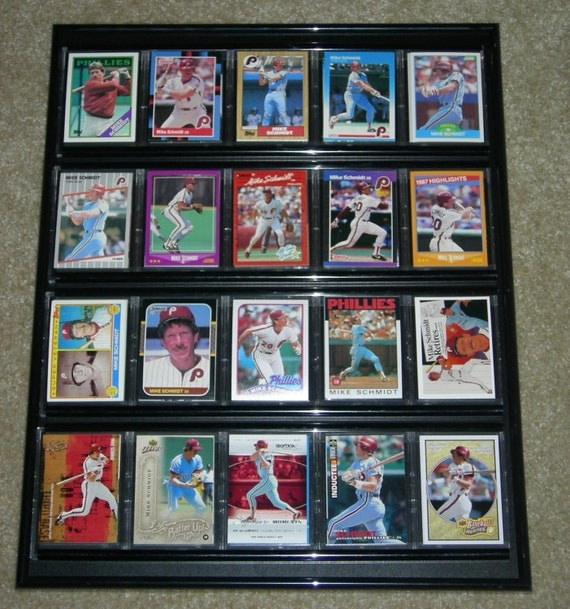 baseball card frame collage philadelphia phillies 20 different cards
