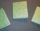 Handgefertigte Mini Bücher-3 Stück-Set-Metallic grünen Blättern